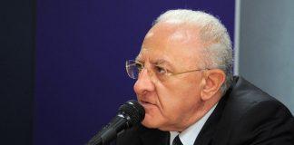Il presidente Vincenzo De Luca