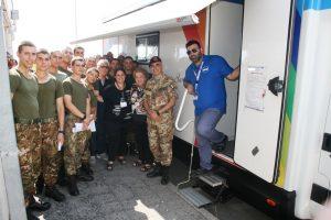 IL Col. Zizzari con la Fondazione ed i Donatori